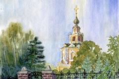 А.И. Пшеничникова Утро. Храм в с. Уборы