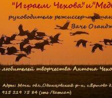 Анонс спектаклей «Играем Чехова» и «Медведь»